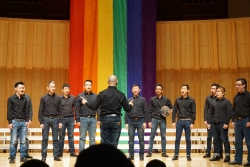 Sing Men's Chorus in performance